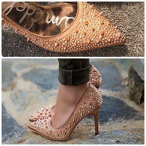 Sam Edelman Pixie Rose Gold Spiked Heels Spikes